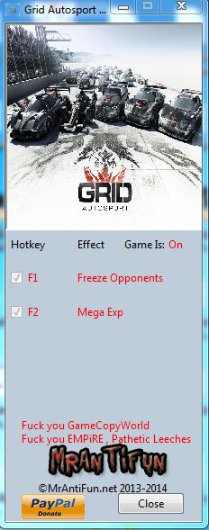 Grid Autosport V1.00 Trainer +2 MrAntiFun