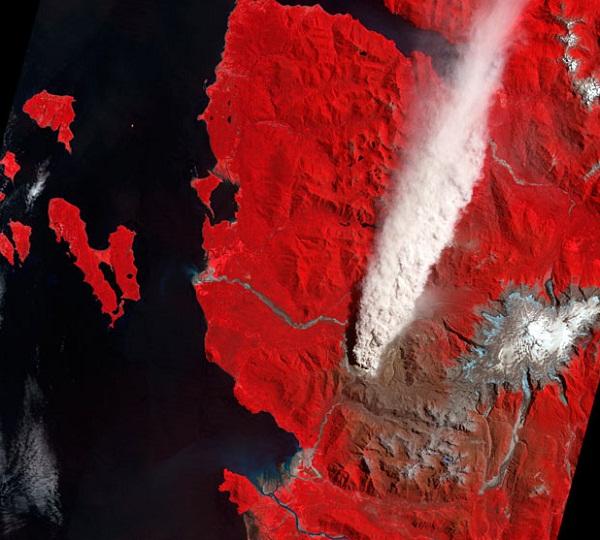 Gunung berapi Chaiten, Chile