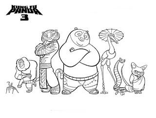 Kung Fu Panda. Coloring pages