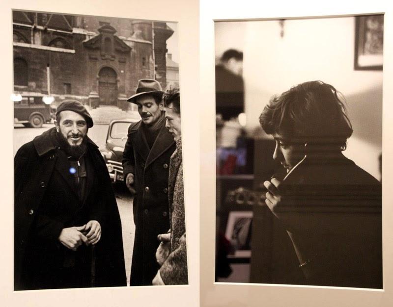Exposition Paris Magnum - Abbé Pierre et Françoise Sagan