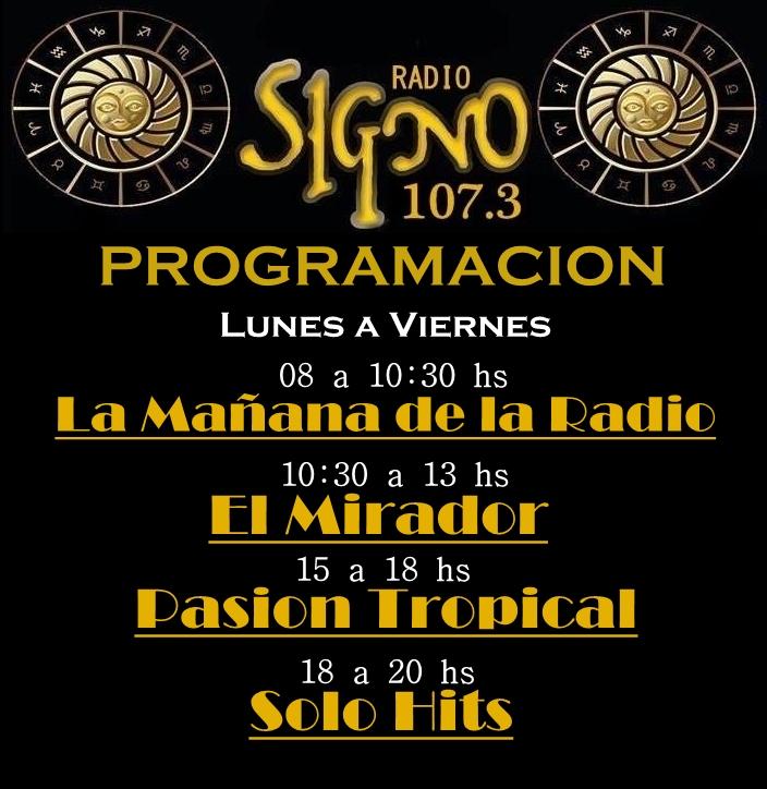 Programación FM EL SIGNO