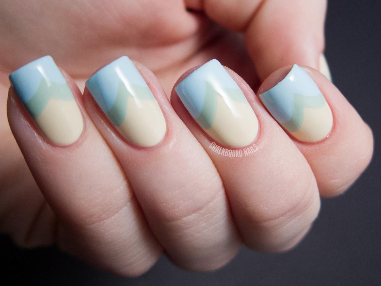 Subtle Spring Fishtail - Zoya Lovely Nail Art | Chalkboard Nails ...