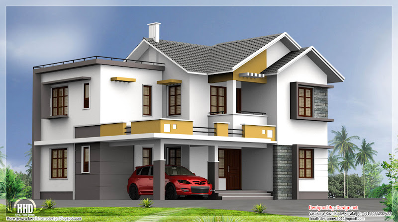 bhk house design by design vatakara kozhikkode kerala title=