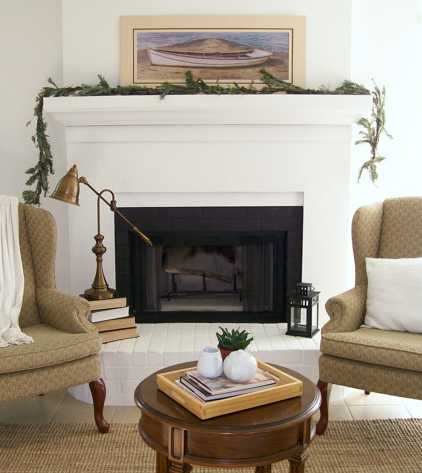 Fireplace Makeover: The Pear Tree Cottage: House Tour