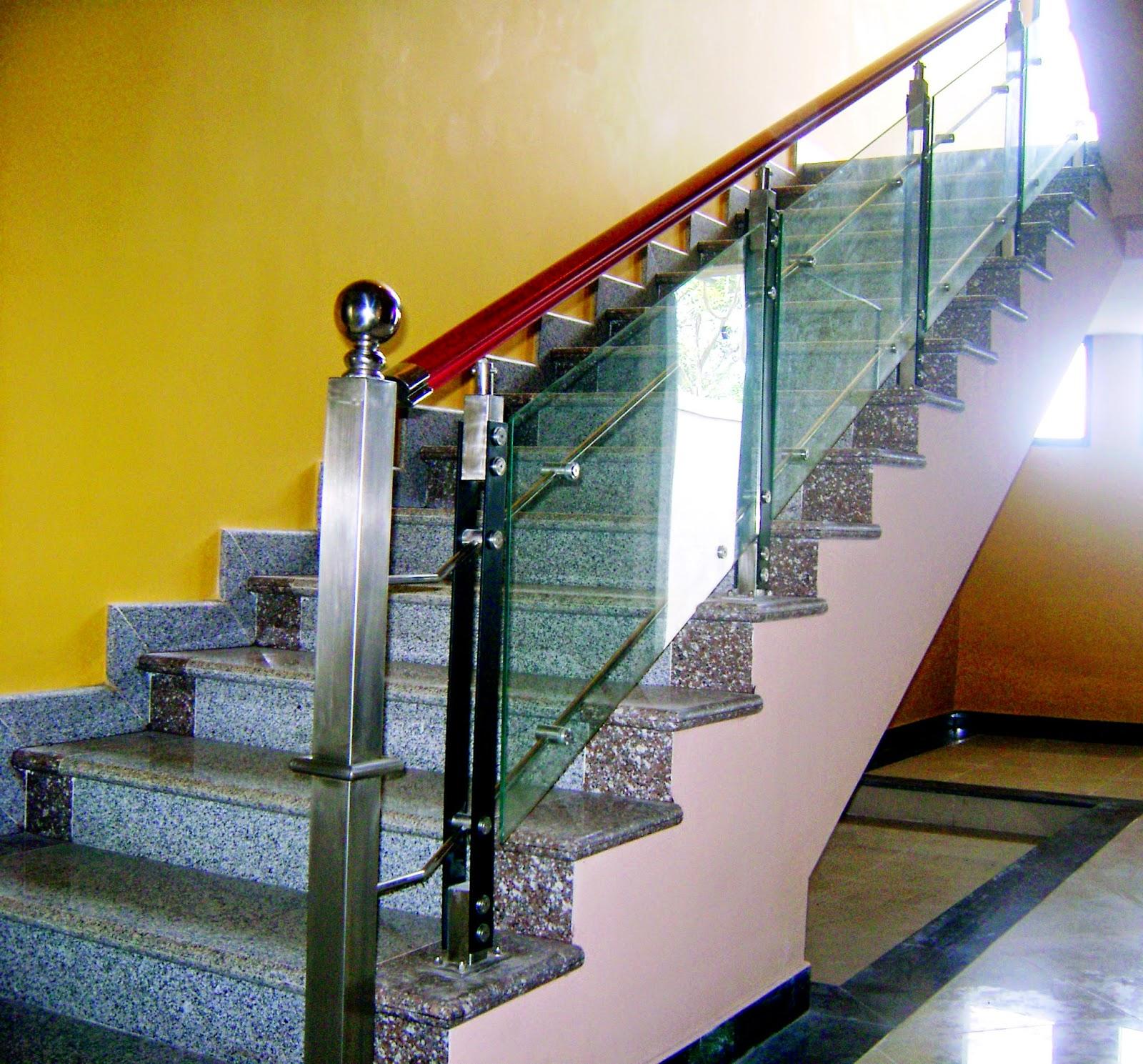 railing tangga modern minimalis desain tangga