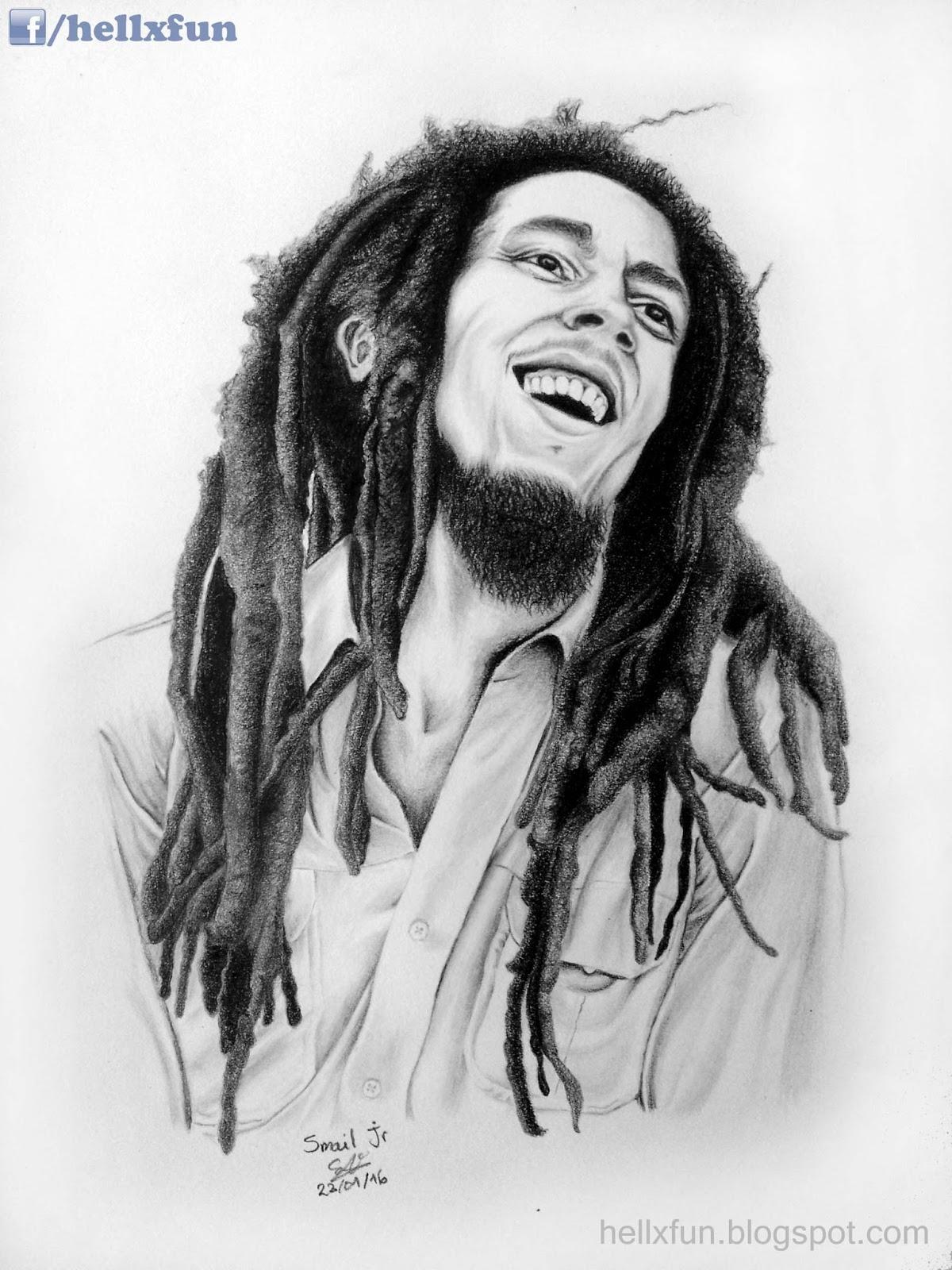 Drawing Dreadlocks  Bob Marley Art