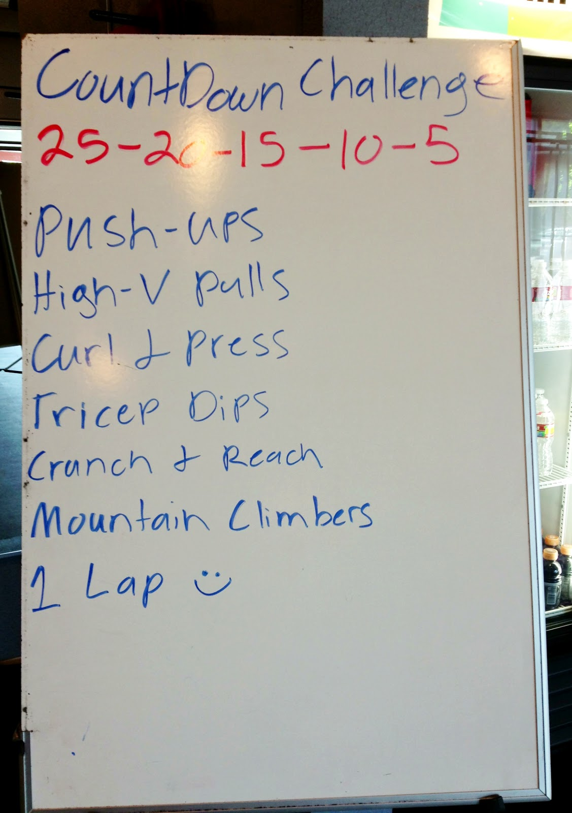 25 20 15 10 5 Workout Challenge