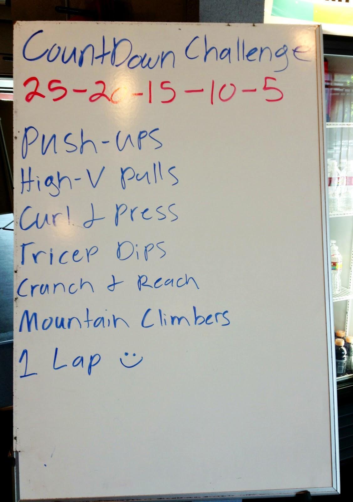 25 20 15 10 5 Workout Challenge