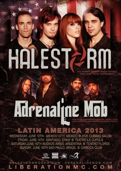 Halestorm tour dates