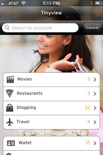 Tinyview mobile browser for shopping