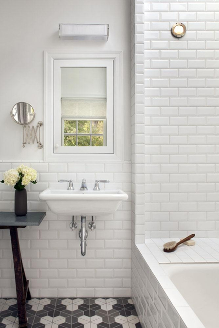 White subway tile bathroom floor 2017 2018 best cars for Bathroom ideas subway tile