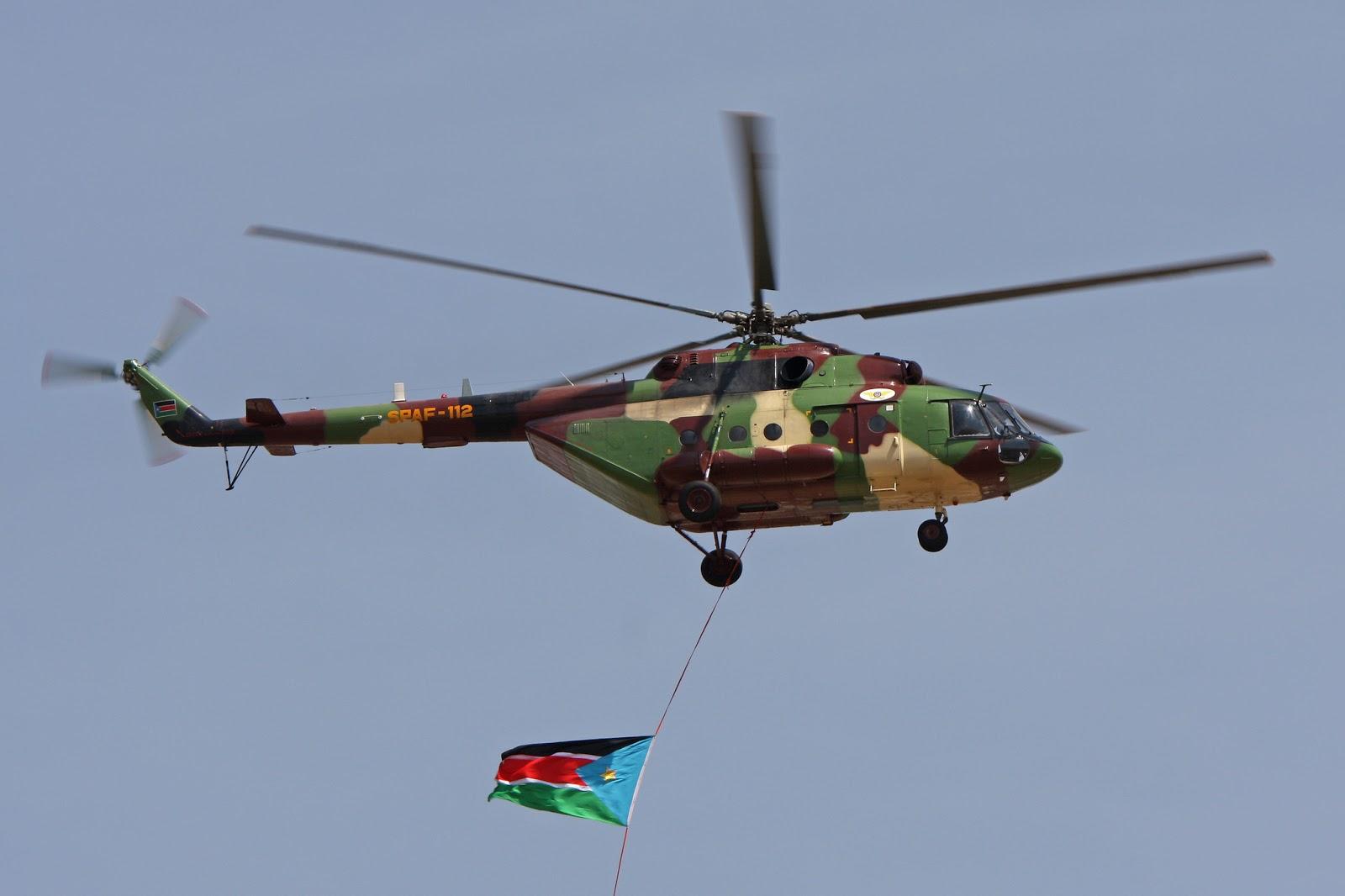 Armées du Sud Soudan MI-17V5+SPAF-112+AIRE