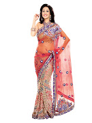 BahubaliEmbroideredYellowSari. WomenMulticoloured Gift (ambica women multi coloured)