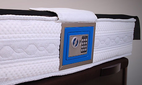 My Mattress Savings Bank - mattress with inbuilt safe