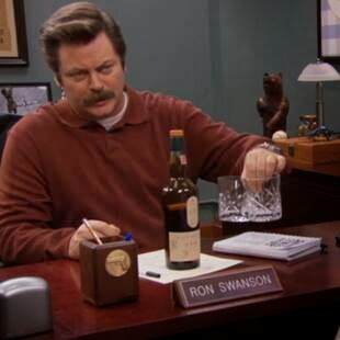 """Clear alcohols are for rich women on diets."" - Ron Swanson"