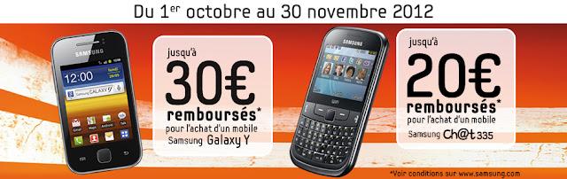 Samsung vous rembourse jusqu'à 30€ sur une sélection de téléphones