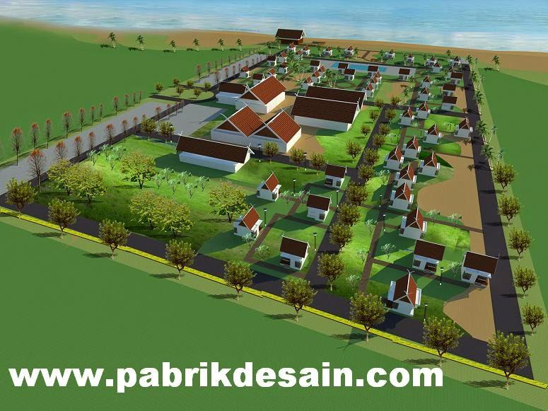 Jasa desain 3d max murah desain siteplan 3d resort pantai for 3d site plan