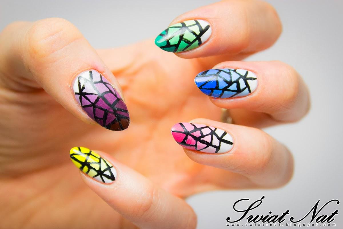 nails nailart zdobienie gradient acrylic