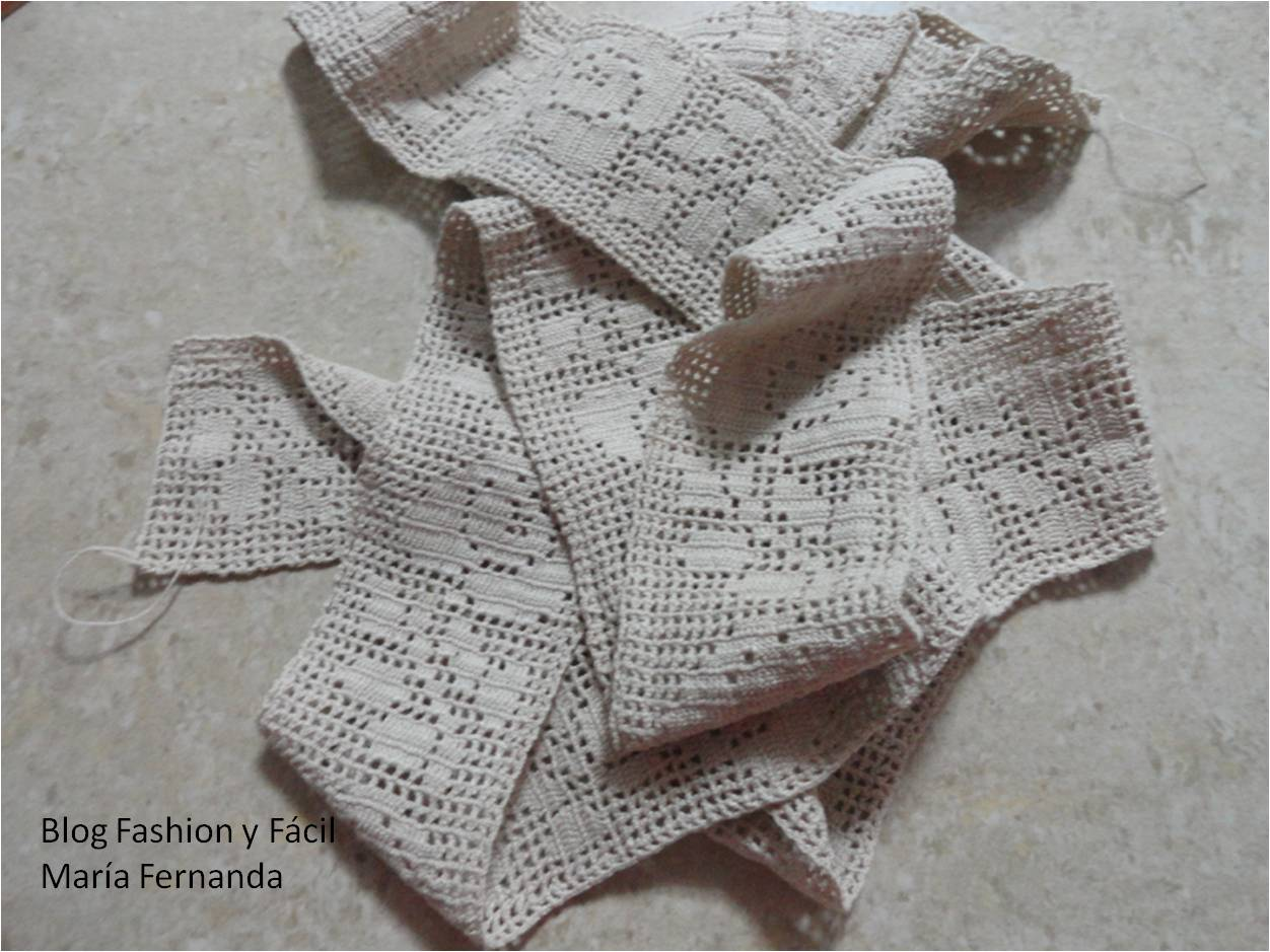 Fashion y Fácil : Cómo hacer una puntilla tejida a ganchillo con ...