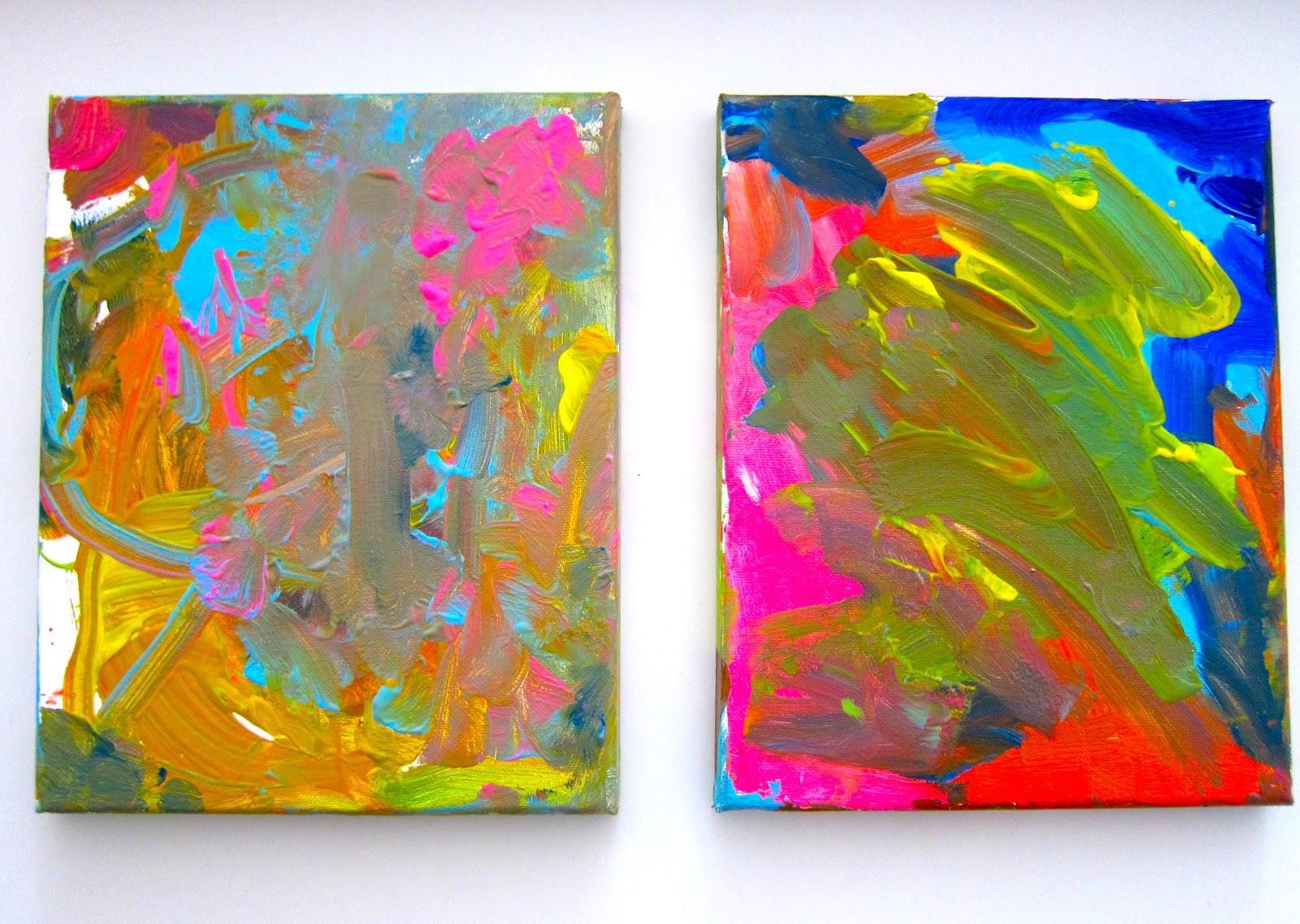 Artividades pintura sobre lienzo para ni os for Imagenes de cuadros abstractos para ninos