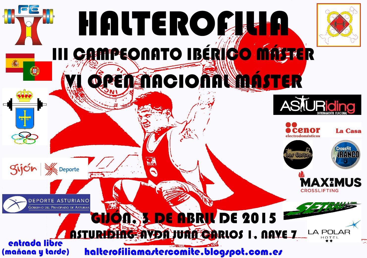VI Open / III Cto. Ibérico Halterofilia Máster2015: