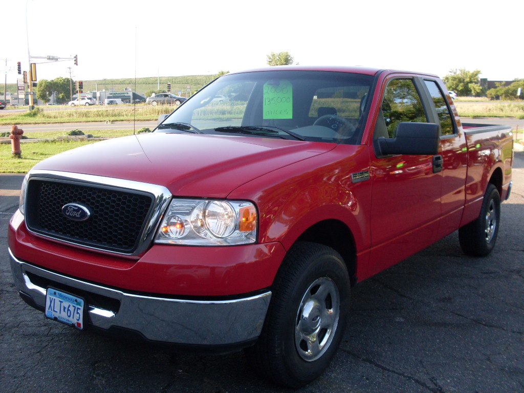 ride auto 2008 ford f150 red 2wd. Black Bedroom Furniture Sets. Home Design Ideas