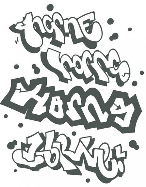i in graffiti bubble letters - photo #23