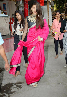 Jacqueline Fernandez Pink Saree Stills at Sahiba Ltd Ad Shoot 3