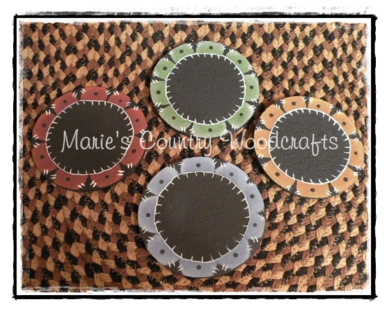 Marie 39 s country woodcrafts penny rug coasters for Penny coasters