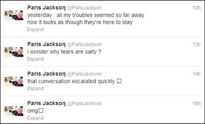 Paris Jackson Tweets Suicide Wrist Cut Hospital 2013