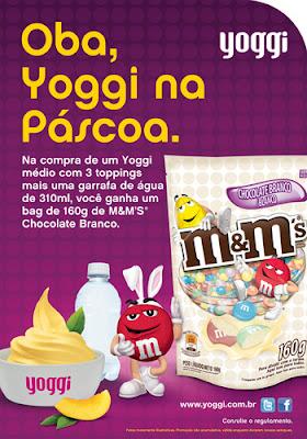 Yoggi faz promoção para Páscoa com M&M's
