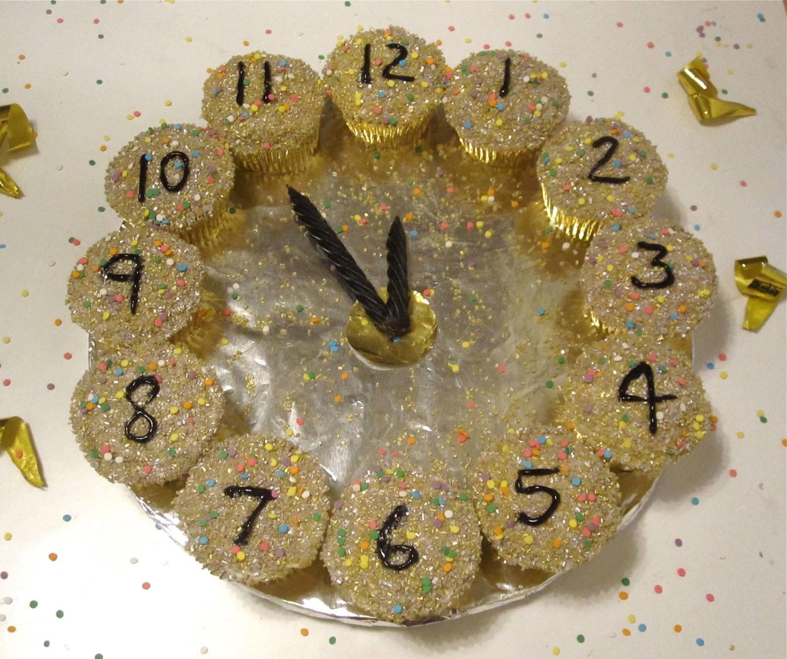fresh idea whimsical clocks. New Years Eve Cupcake Clock  Lindsay Ann Bakes