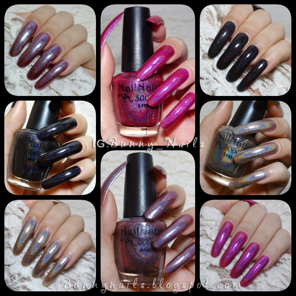 Bunny Nails: Nailnation 3000 Swatches and Review: Part 1