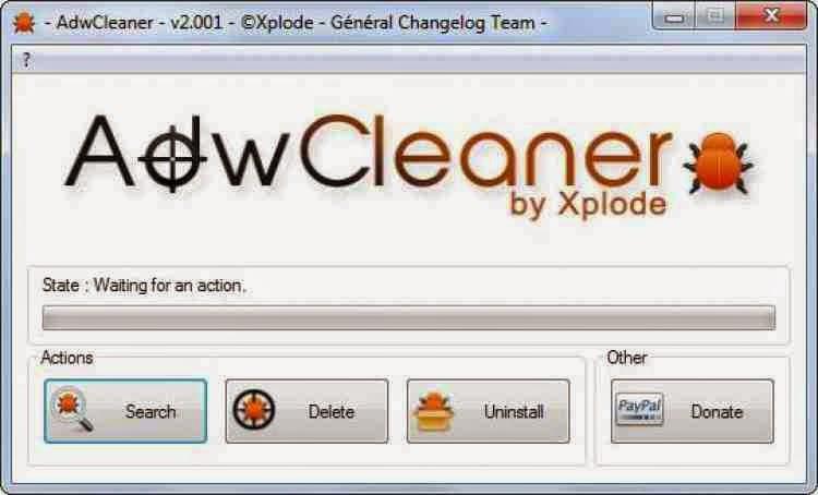 AdwCleaner برنامج القضاء علي ملفات الدعاية و الاختراق 2014