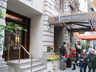A true old New York experience awaits inside the Iroquois Hotel
