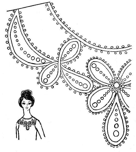 Схема для вышивки бисером платье