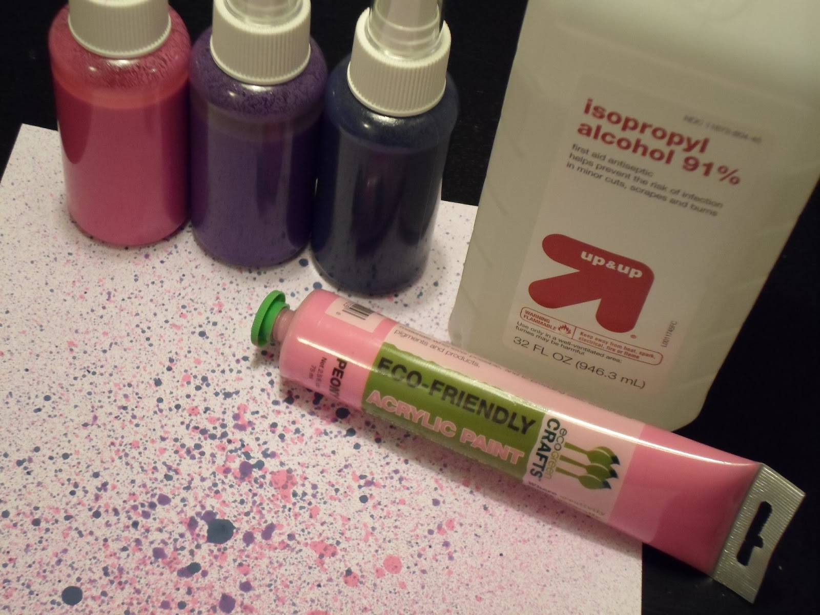 crafty island girl diy alcohol ink sprays. Black Bedroom Furniture Sets. Home Design Ideas