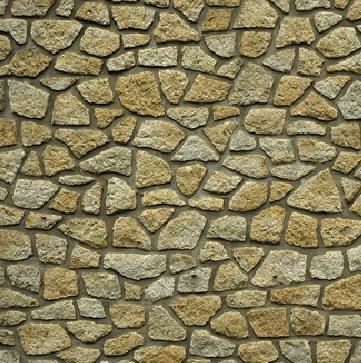 Muro de piedras con junta de cemento