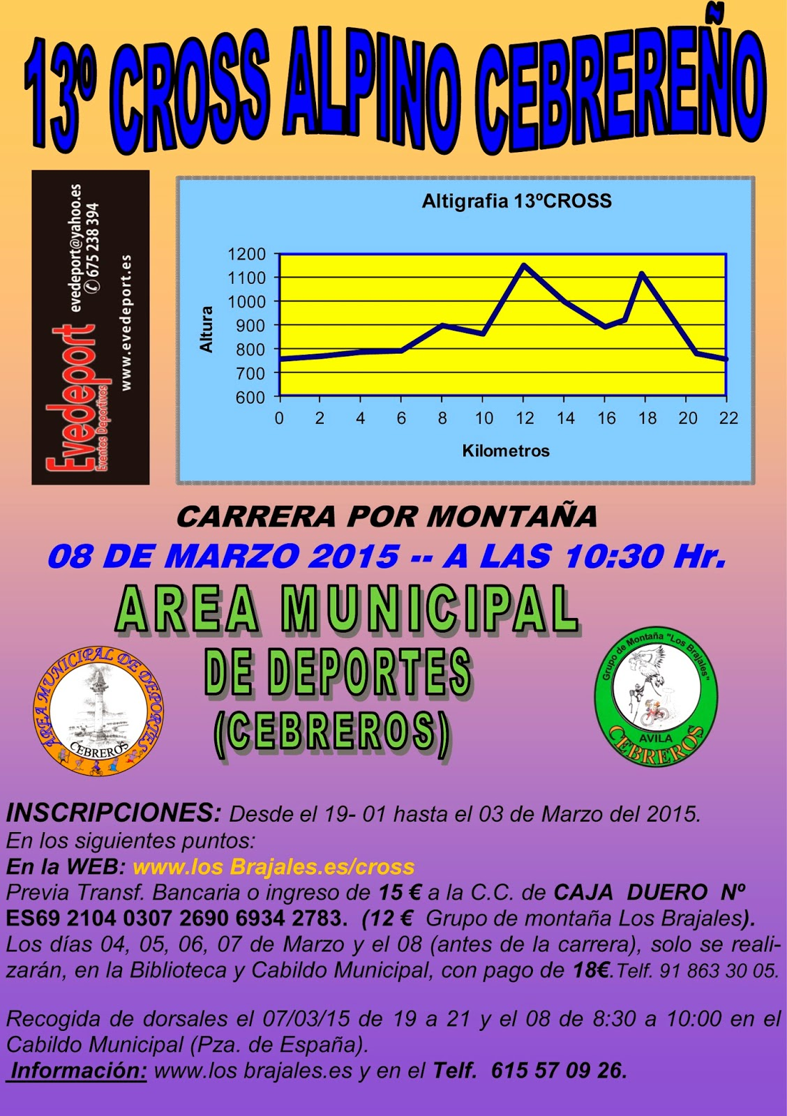 Cartel XIII Cross Alpino Cebrereño