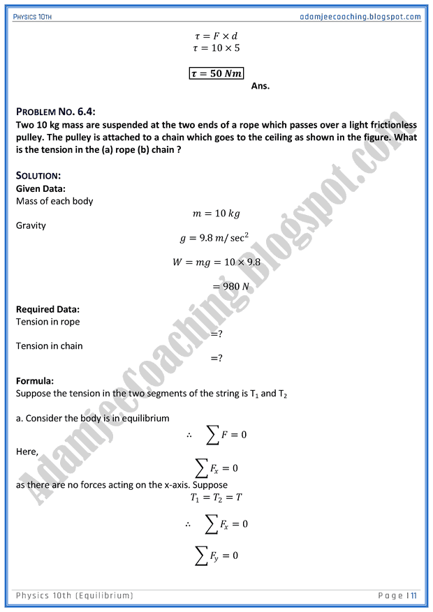 equilibrium-solved-numericals-physics-10th