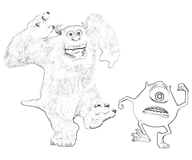 Free mike sully coloring pages