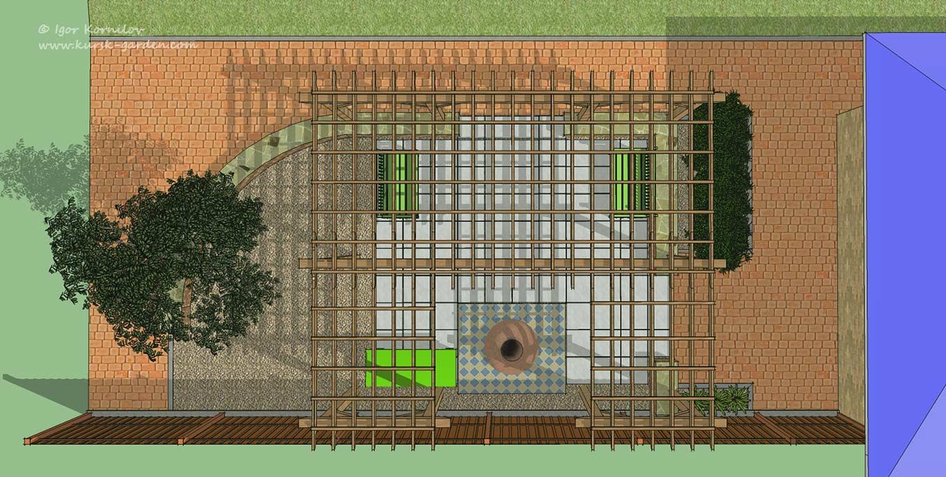 Ландшафтный проект зоны отдыха