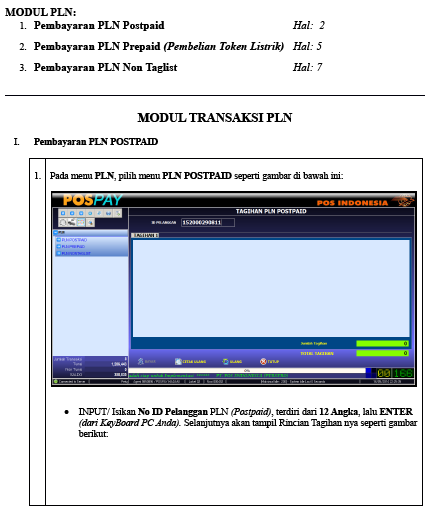 Download Modul Transaksi PLN