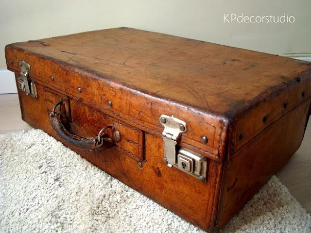 Comprar maleta de cuero antigua