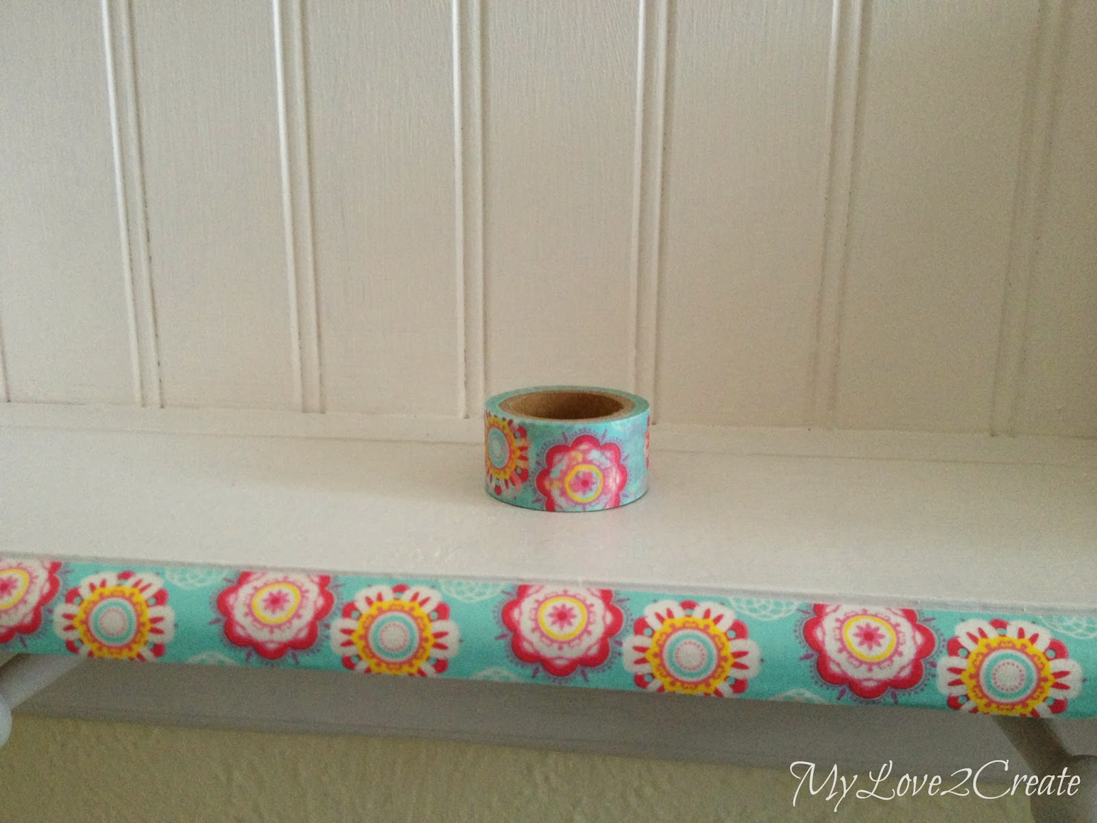 Adding washi tape for a fun pop of color
