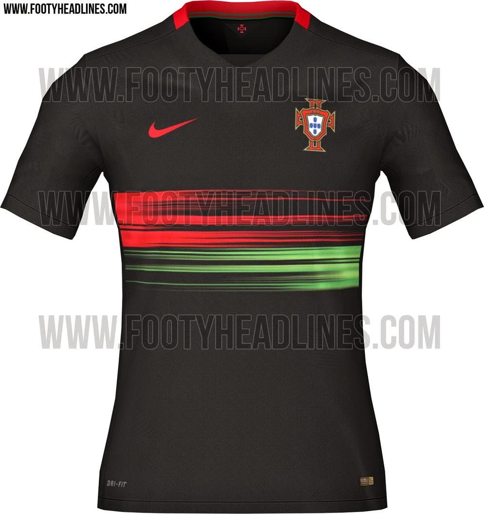 gambar desain dan bocoran jersey portugal home terbaru musim 2015/2016 kualitas grade ori made in thailand