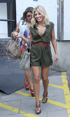 Mollie King Braless Playsuit Nipple-Slip Wardrope Malfuntion