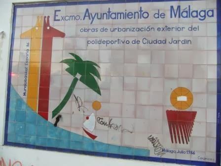 Mosaicos de m laga mosaico 186 polideportivo de ciudad for Polideportivo ciudad jardin malaga