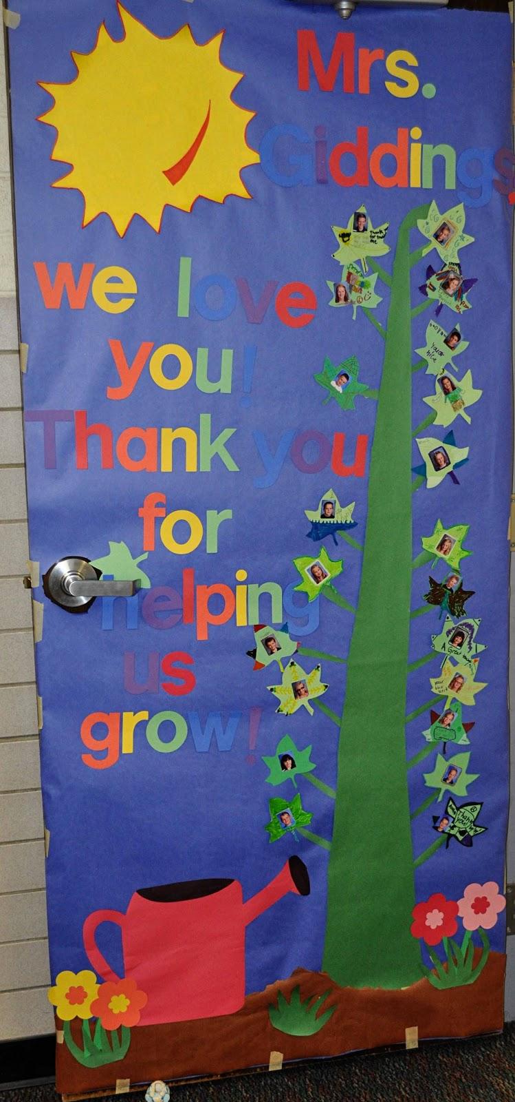 children's learning activities: teacher appreciation week: door