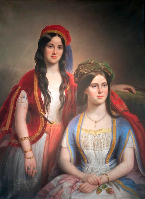 Portrait of Carrie Brown and Annmary Brown as Teenagers